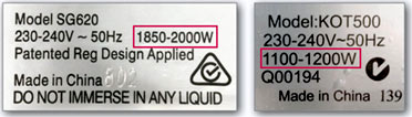 wattage-label